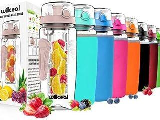 Fruit Infuser Water Bottle 32oz Willceal  Durable  large   BPA Free