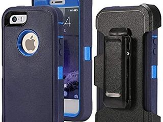 Defense Case for iPhone 5 5S   iPhone SE Impact Screen Protector Heavy Duty Drop Protection  Tough Rugged TPU Hybrid Hard Shell Case for iPhone SE 5S Blue