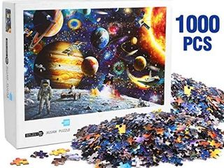 lUDIlO Jigsaw Puzzles 1000 Pieces for Adults Outer Space Puzzle Cosmic Galaxy Puzzle for Teens Intellectual Decompressing Fun Family Puzzle Games Gifts for Christmas Birthday with Exquisite Packaging