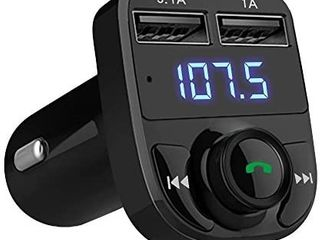 Handsfree Call Car Charger Wireless Bluetooth FM Transmitter Radio Receiver Mp3 Audio Music Stereo Adapter Dual USB Port Charger Compatible for All Smartphones Samsung Galaxy lG HTC etc