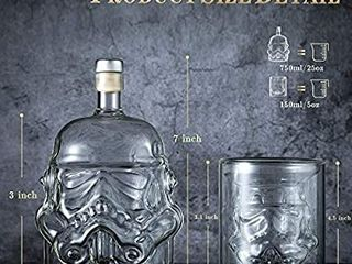 Transparent Creative Whiskey Decanter Set with 2 Glasses