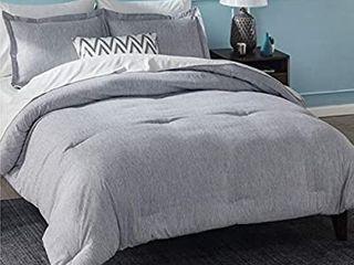 Bedsure Queen Comforter Set  Bed Comforter Queen Set  Grey Comforter Queen Set  Cationic Dyeing Queen Comforter with Pillow Shams Queen Full  88x88 inches  3 Pieces