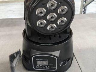 SevenStars 60W Moving Head light  RGBW DJ light 9 16 Channel DMX 512 Spotlight for Bars  Disco  Church  Club  Party
