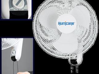 Hurricane Classic 16 Inch Wall Mount Oscillating Fan