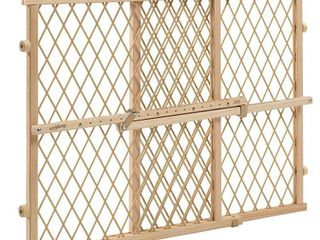 Evenflo Position and lock Wood Gate  Tan