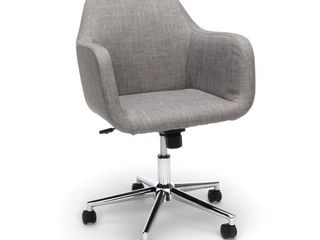 Upholstered Adjustable Home Office Chair with Wheels Gray   OFM