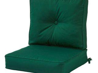 Outdoor Sunbrella Deep Seat Cushion Set  Forest Green   Greendale Home Fashions