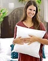Foamily Premium Hypoallergenic European Sleep Pillow Insert Euro Sham Square Form Polyester  26  l X 26  W  Standard White