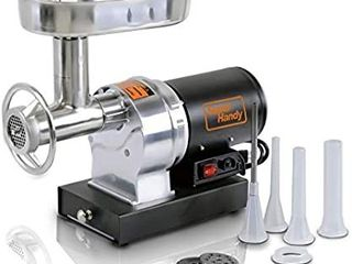 SuperHandy Meat Grinder Sausage Stuffer Electric  8 1 2 HP 480lBS Per Hour 370 Watts Heavy Duty Commercial Stainless Steel Body Cutlery Blade Tray Grinding Plates   Stuffing Tubes Stomper Storage Box