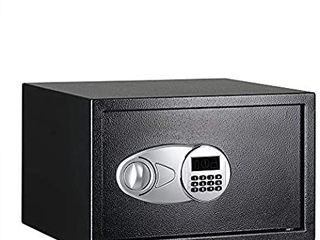 AmazonBasics Steel  Security Safe lock Box  Black   1 2 Cubic Feet