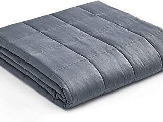 YnM Weighted Blanket a Heavy 100  Oeko Tex Certified Cotton Material with Premium Glass Beads  Dark Grey  60 x80  20lbs  Suit for One Person 190lb  Use on Queen King Bed