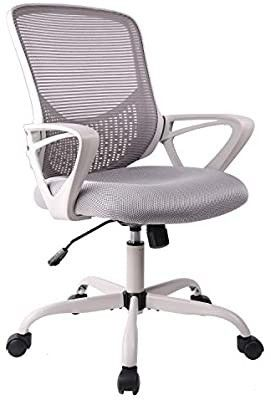 Office Chair  Ergonomic Desk Chair Computer Task Chair Mesh with Armrests Mid Back for Home Office Conference Study Room  Gray