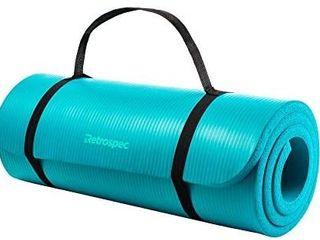 Retrospec Solana Yoga Mat 1  Thick W nylon Strap For Men   Women   Non Slip E
