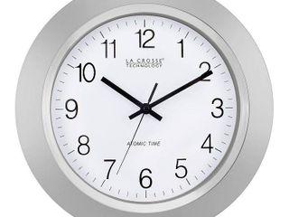 la Crosse Technology WT 3144S 14 Inch Atomic Analog Silver Wall Clock