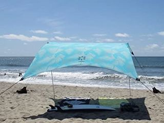 Neso Tents Grande Beach Tent  7ft Tall  9 x 9ft  Reinforced Corners and Cooler Pocket Periwinkle Blue