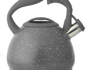 Diamond Home 3 liter Speckled Tea Kettle   Grey   Diamond Home