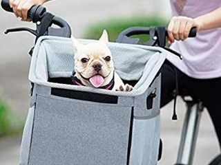 Pet Carrier Bicycle Basket Bag Pet Carrier Booster Backpack for Dogs and Cats with Big Side Pockets Comfy   Padded Shoulder Strap Travel with Your Pet Safety