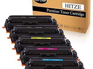 HITZE Compatible Toner Cartridge Replacement for HP 414A 414X W2020A W2020X for HP Color laserjet Pro MFP M479fdw M479fdn M454dw M454dn  2 Black  1 Cyan  1 Magenta  1 Yellow  High Yield  No Chip