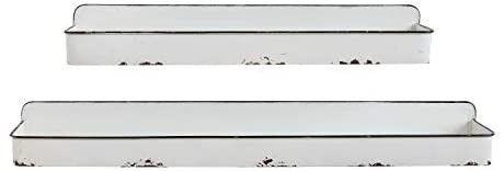 Creative Co Op DA8541 White Wall Shelves