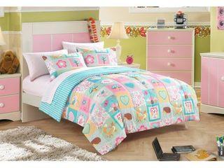 American Toddler Woodland Friends Toddler 3 Piece Bedding Set with Bonus Matching Pillowcase