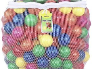 Click N  Play Value Pack Phthalate Free BPA Free Crush Proof Plastic Ball  Pit Balls   6 Bright Colors