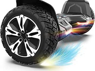 Gyroor Warrior 8 5 inch All Terrain Off Road Hoverboard with Bluetooth Speakers and lED lights  Ul2272 Certified Self Balancing Scooter 2018 Black  Retails   299