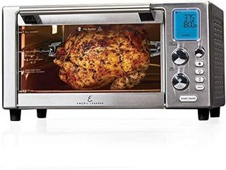 Emeril Everyday 360 Deluxe Air Fryer Oven  15 1a x 19 3a x 10 4a with Accessory Pack  Silver