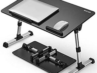 large Size  Besign Adjustable latop Table  Portable Standing Bed Desk  Foldable Sofa Breakfast Tray  Notebook Computer Stand for Reading and Writing a Black