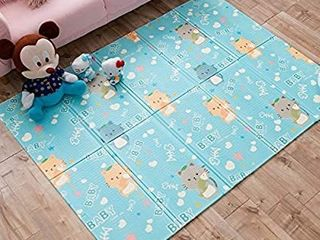 INFANTRAIN Foam Baby Mats for Playing Crawling Baby Care Mat Foldable Playmat for Toddlers