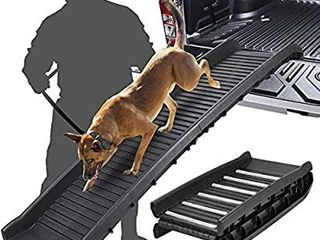 Folding Portable Pet Ramp Great for Cars  Trucks and SUV   lightweight   Durable Dog Ramp Supports Up to 150 lb length Ramp