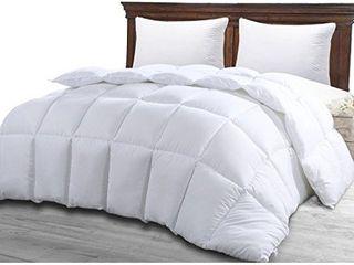 Utopia Bedding Comforter Duvet Insert   Quilted Comforter with Corner Tabs   Box Stitched Down Alternative Comforter  Queen  White
