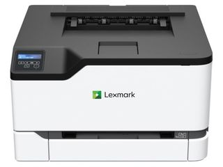 lexmark C3224dw Color laser Printer with Wireless capabilities  Standard Two Sided printing  Two line lCD Screen with Full Spectrum Security and Prints Up To 24 ppm  40N9000 White  Gray