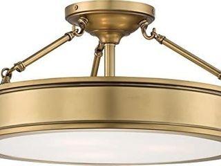 Minka lavery Semi Flush Mount Ceiling light 4177 249  Harbour Point Glass lighting Fixture  3 light  liberty Gold