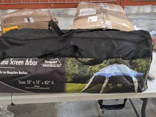 Texsport Montana Screen Arbor   Shade Canopy  Multi  12  x 12  x 82   02853