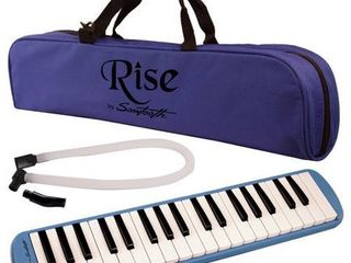 Rise by Sawtooth Piano Style Melodica with 37 Keys  Blue   ST RISE MEl 37 BlUE