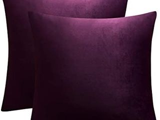 JUSPURBET Decorative Velvet Throw Pillow Cover for Couch Bed Sofa