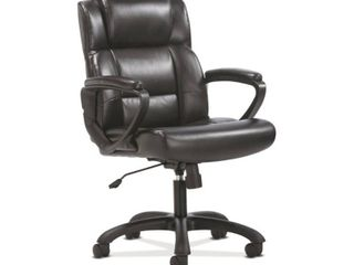 Sadie Ergonomic Swivel leather Executive Computer Office Chair with Arms and lumbar Support Black   HON