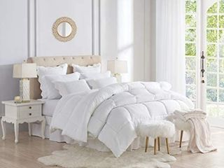 Swift Home All Season Extra Soft luxurious Classic light Warmth Goose Down Alternative Comforter  Twin 68  x 90  White