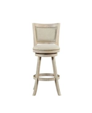 29  Melrose Swivel Barstool Wire Brush Ivory   Boraam