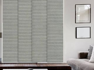 GoDear Design Natural Woven Adjustable Sliding Panel  45 8  86  W x 96  l  Retail 133 99
