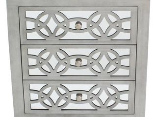 Silver Orchid Fonda Glam Slam 3 Drawer Mirror Chest   Retail 258 00