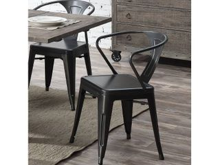 Carbon loft Uglem Industrial Dining Chair  Set of 2  Retail 110 49