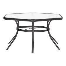 Garden Treasures   Pelham Bay Hexagon Outdoor Dining Table 50 in W x 56 in l with Umbrella Hole