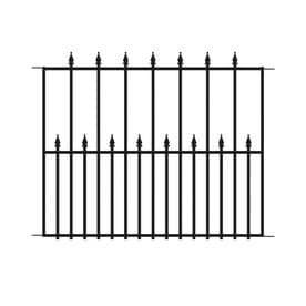 No Dig Powder Coated Steel Fence Panel  Common  29 in x 38 in  Actual  29 02 in x 37 76 in