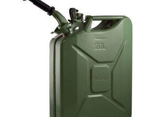 Wavian USA JC0020KVS Green Authentic NATO Jerry Fuel Can and Spout System  20 liter