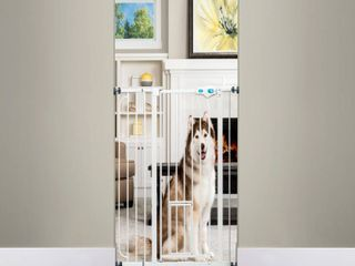 Carlson 36 H Extra Tall Pet Gate with Small Pet Door