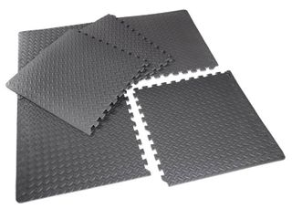 Interlocking foam mats 2  6 CAP Barbell High Density Interlocking Puzzle Mat  1 2  Thick EVA Foam Exercise Gym Flooring  Black  6 Pieces  20 78 Sq Ft