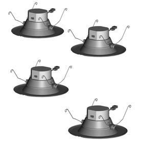 Catalina 4 Pack 60 Watt Equivalent White Dimmable lED Recessed Retrofit Downlight  Fits Housing Diameter  5 in Or 6 in