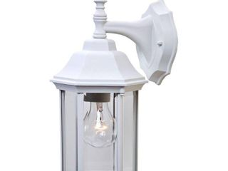 Alico lighting 5182TW Acclaim lighting Textured White Finished Outdoor Sconce with Clear Beveled Glass Shades