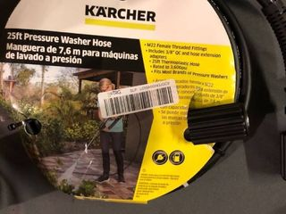Karcher 25 ft  Replacement Hose for Gas and Electric Pressure Washers  3600 PSI Rating